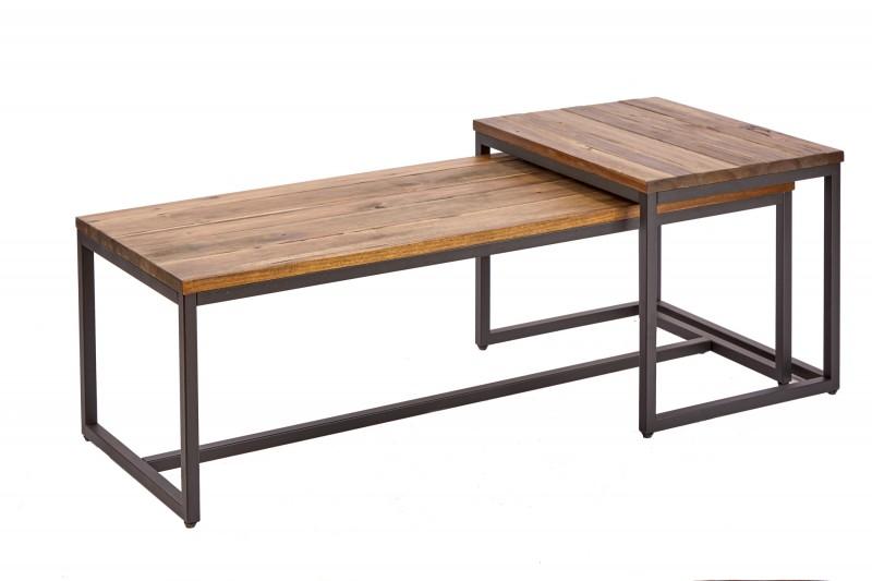 Konferenční stolek - 2ks akácie / 39702