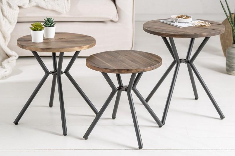 Přídavný stolek Tovární sada 3 akácie / 39704