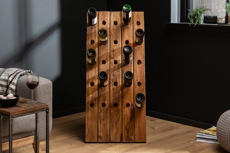 Stojan na víno Mabel 49cm x 107cm - recyklované dřevo / 40015