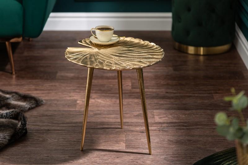 Boční stolek Gold Leaf 40cm zlato / 39499