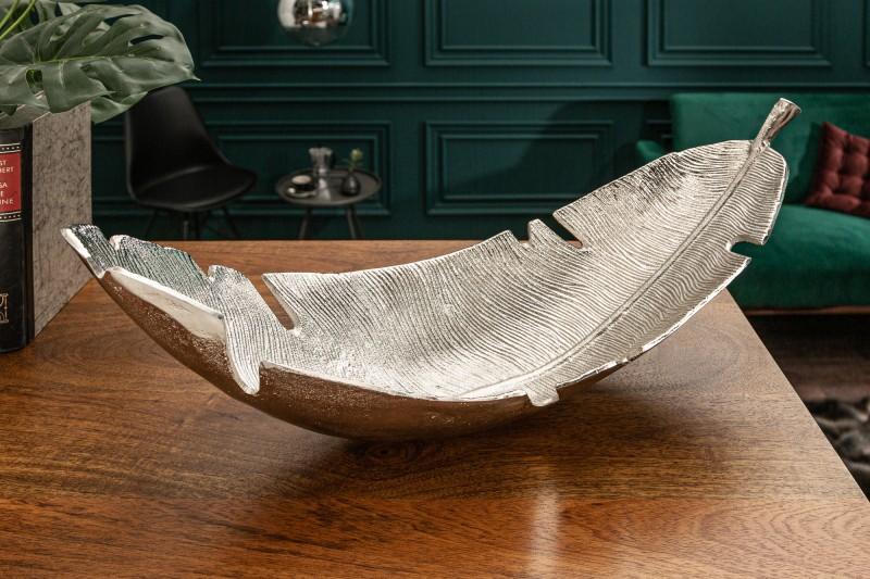 Dekorativní list Silver Leaf 62cm stříbrný / 39501