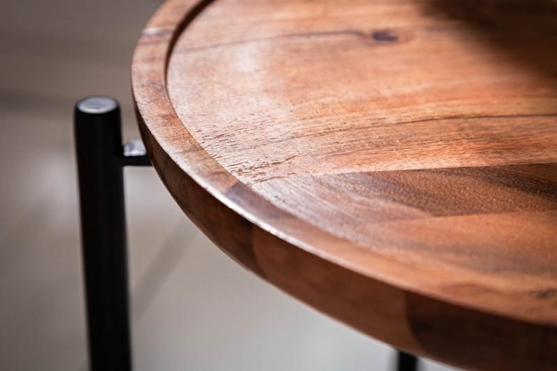 Servírovací stůl Monsoon 37cm akátový zásobník / 39508