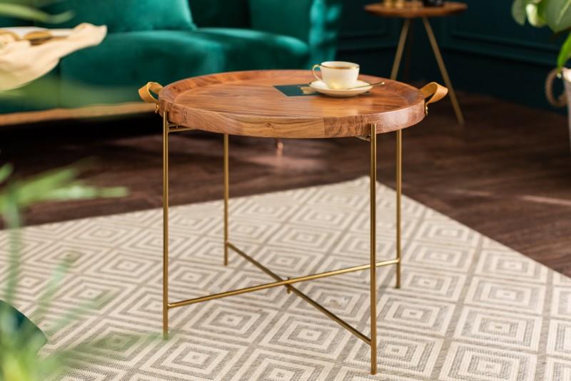 Konferenční stolek Monsoon 55cm akátové zlato / 39510