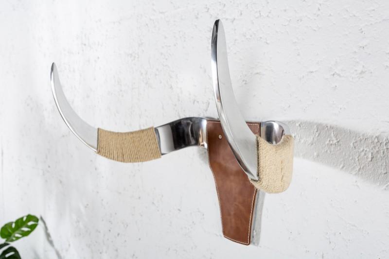 Stojan na kolo Bull Head 50cm - hliník, kůže / 39934