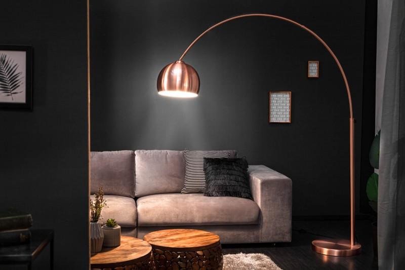 Stojací lampa Big Bow - měď 170-210cm / 21599