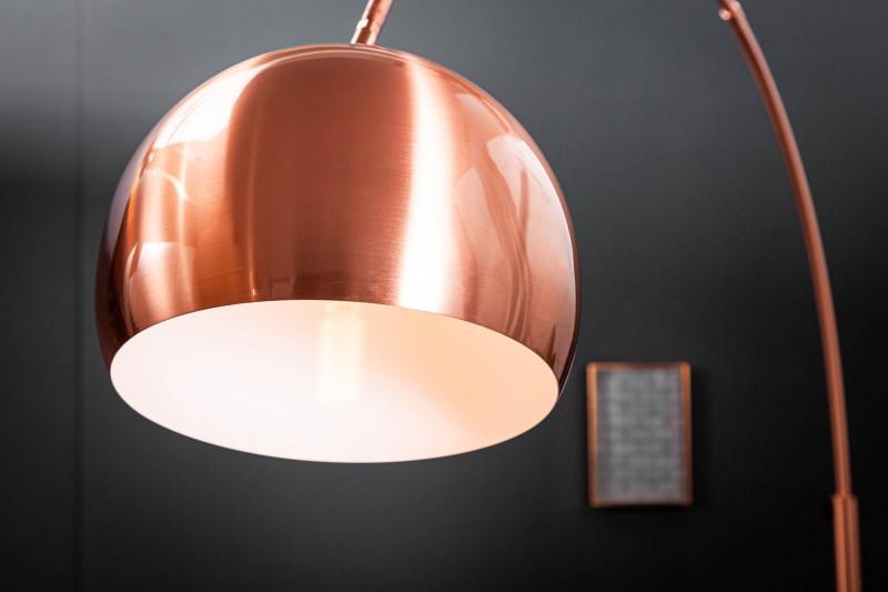 Stojací lampa Big Bow 170-210cm - měděná  / 21599