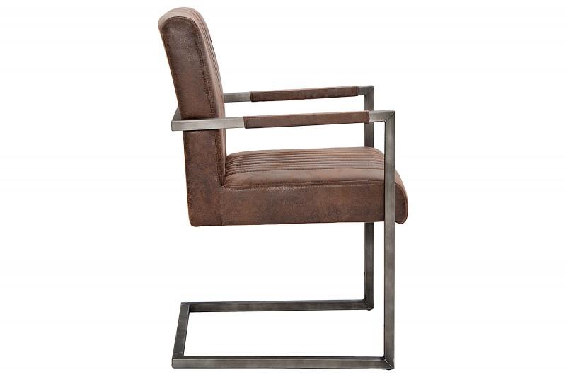 Konferenční židle Big Aston vintage hnědá / 39805