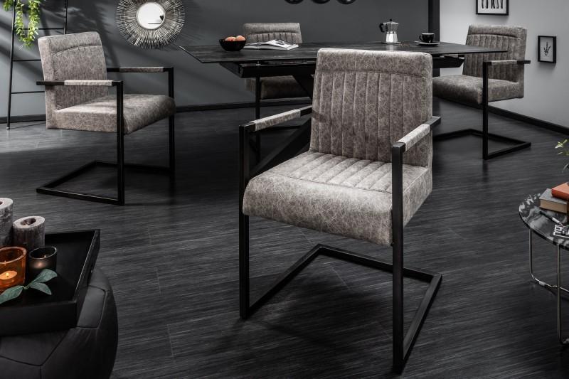 Konzolové židle Big George vintage šedá / 39806