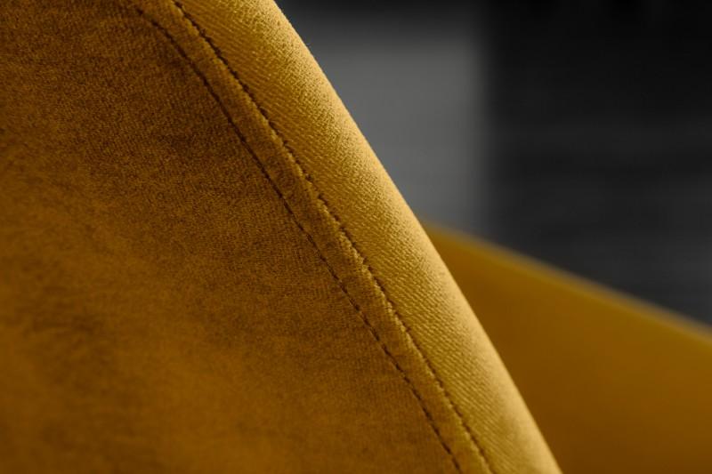 Jídelní židle Scandinavia Velvet - žlutá, samet / 40026