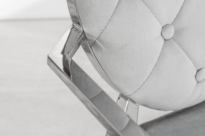 Jídelní židle Giacomo III - šedá, samet / 38343