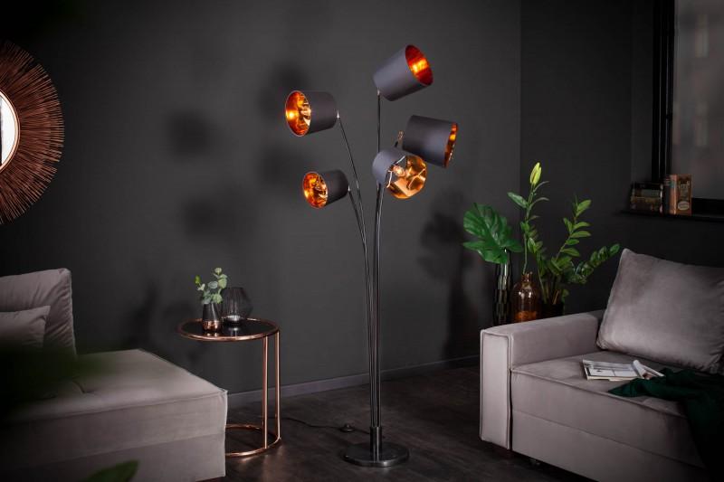 Stojací lampa Carla 178cm - černá, zlatá / 40038
