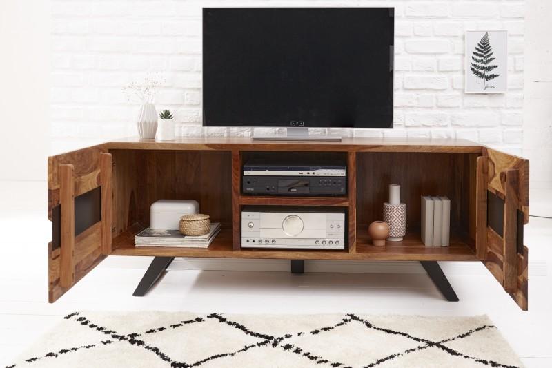 Televizní stolek Yucatán 160cm x 63cm - Sheesham / 40194