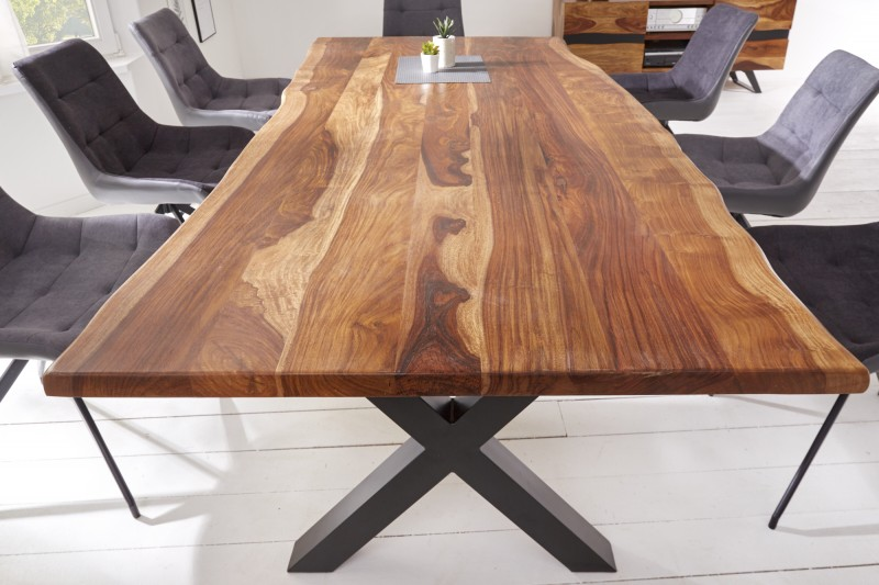 Jídelní stůl Amazonas X 180 cm přírodní Sheesham / 40192