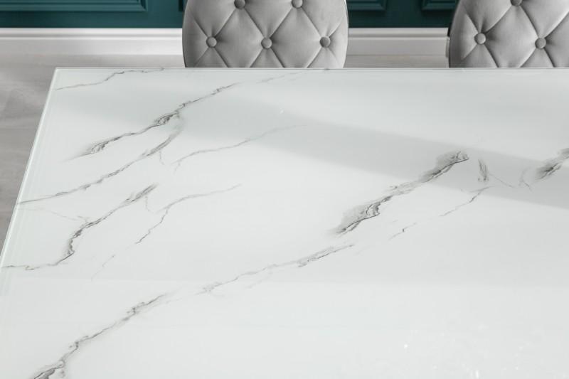 Jídelní stůl Modern Baroque 180cm x 95cm -  stříbrný, mramor / 39995