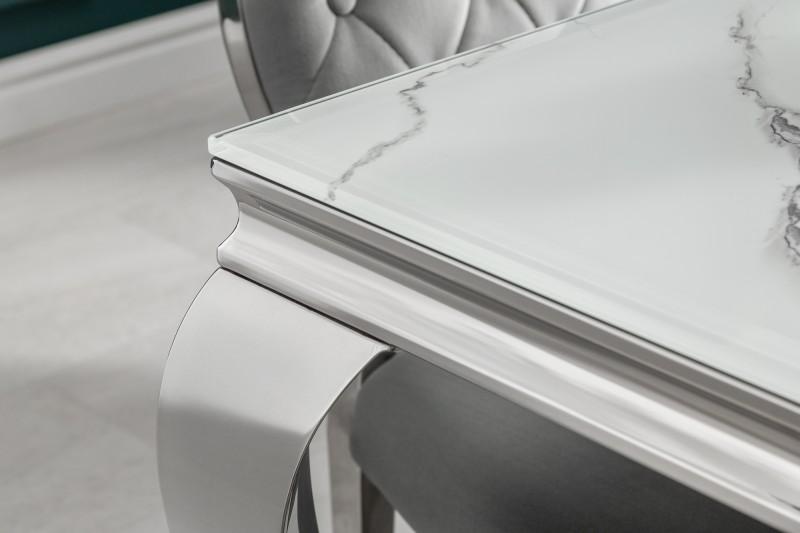 Jídelní stůl Giacomo 200cm x 105cm - mramor, stříbrná / 39996