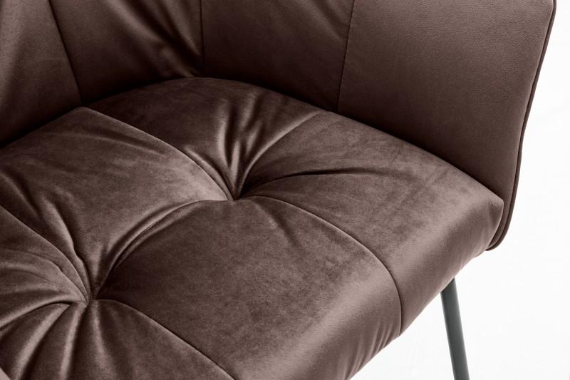 Jídelní židle Owen - hnědá, samet / 38863