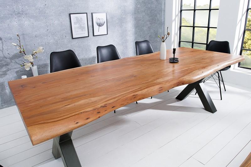 Jídelní stůl Colombo Cross 200cm x 103cm - akát, přírodní / 38349