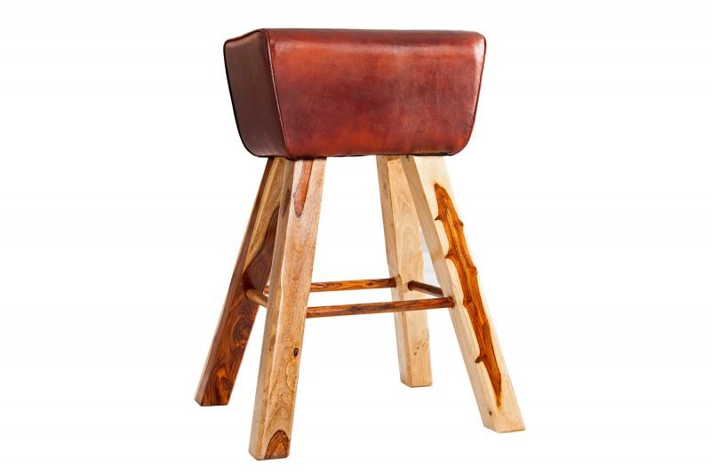 Barová židle Bock kůže hnědá / 39295