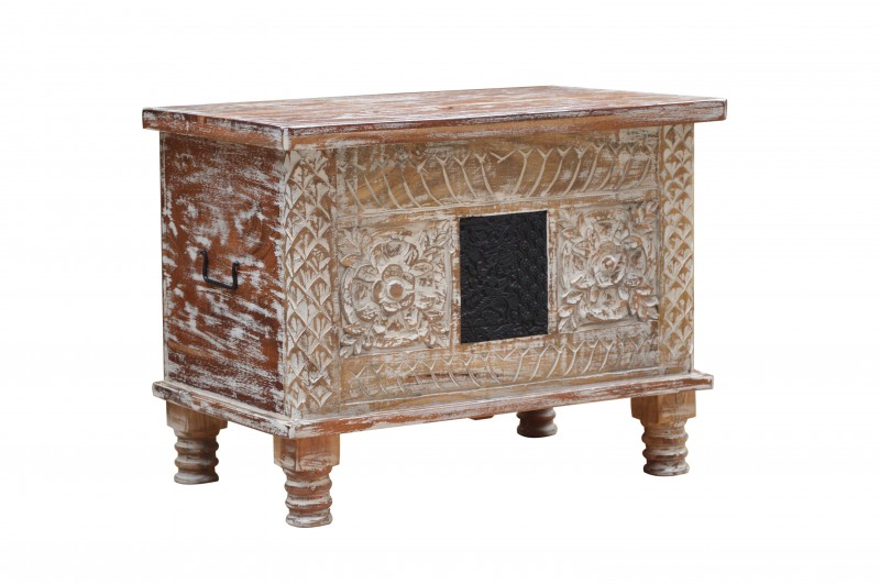 Konferenční stolek Mystic 65cm akát mango bílá / 39649