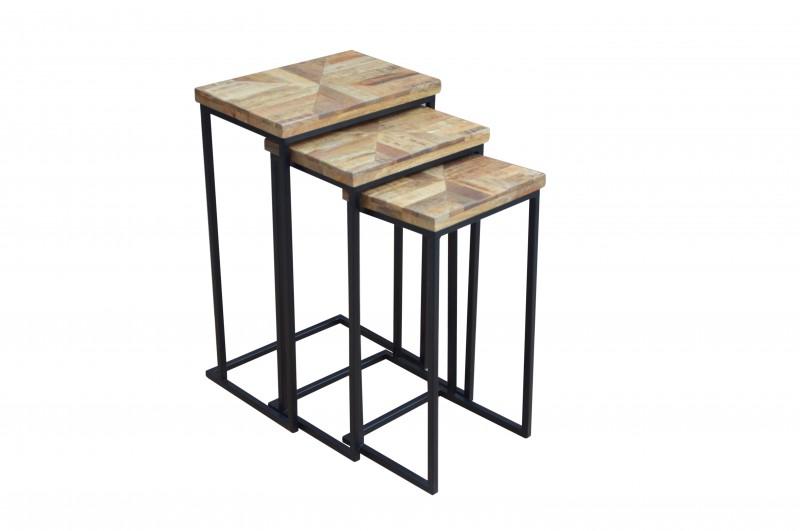 Konferenční stolek Dorado Parket 3ks - mango / 39650