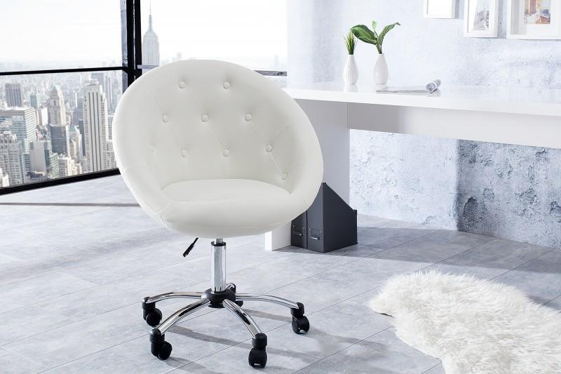 Kancelářská židle Couture Living 90-100cm bílá / 15144