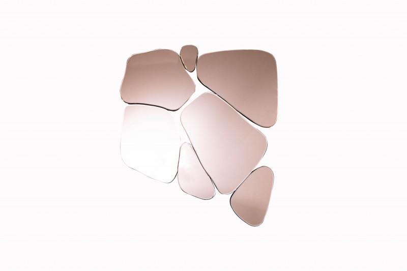 Fragment nástěnné zrcadlo 78cm růžový / 38988