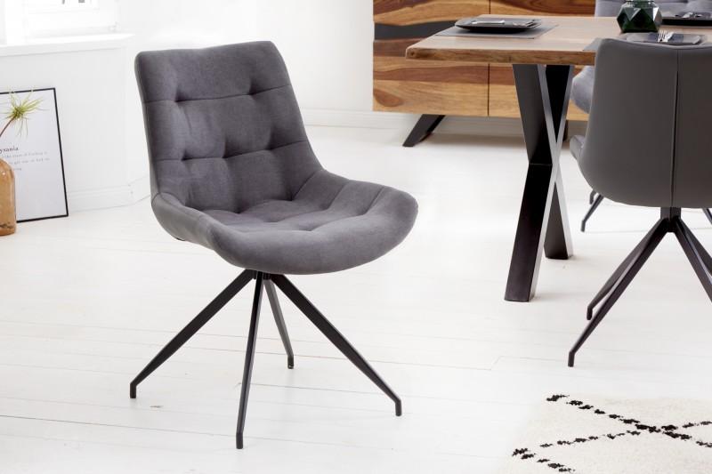 Jídelní židle Salvage - světle šedá / 40017