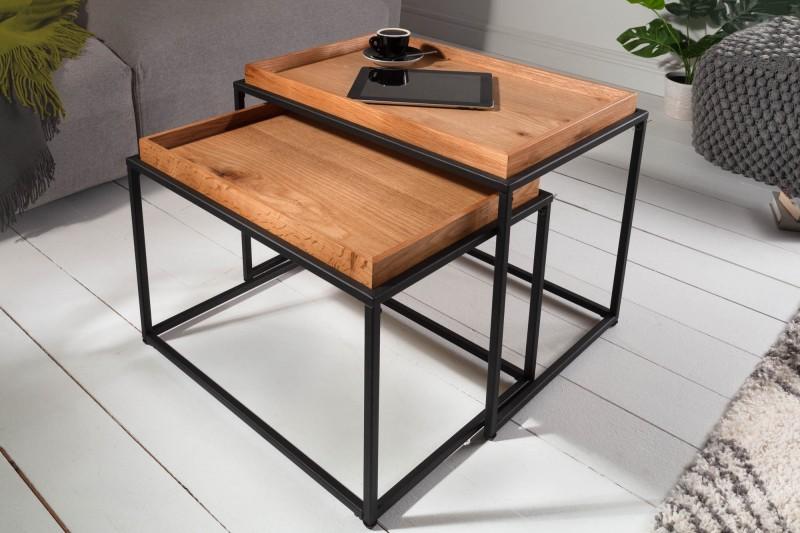 Konferenční stolek - 2ks divoký dub / 39718