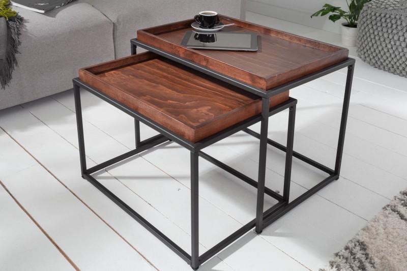 Konferenční stolek - 2ks mocca - buk/ 39719