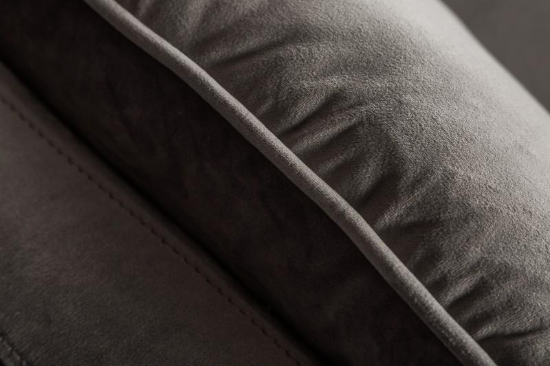 Pohovka Lilly 210cm - stříbrno-šedá, samet / 40084