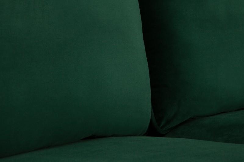 Pohovka Lilly 210cm - zelená, samet / 40086