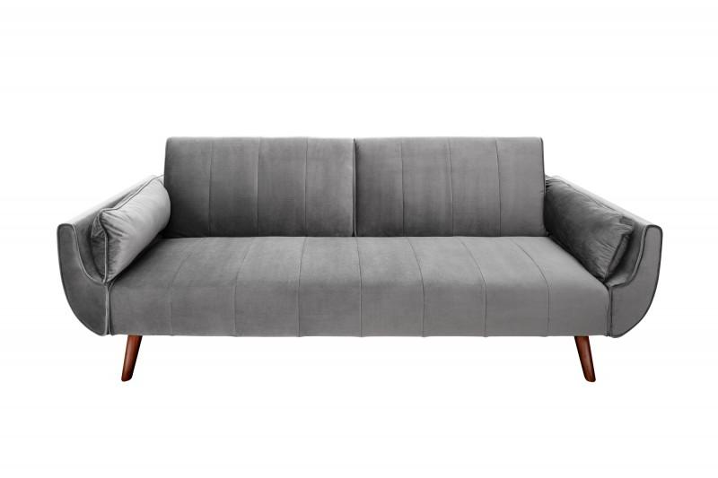 Pohovka Carina 215cm - stříbrno-šedá, samet / 40087