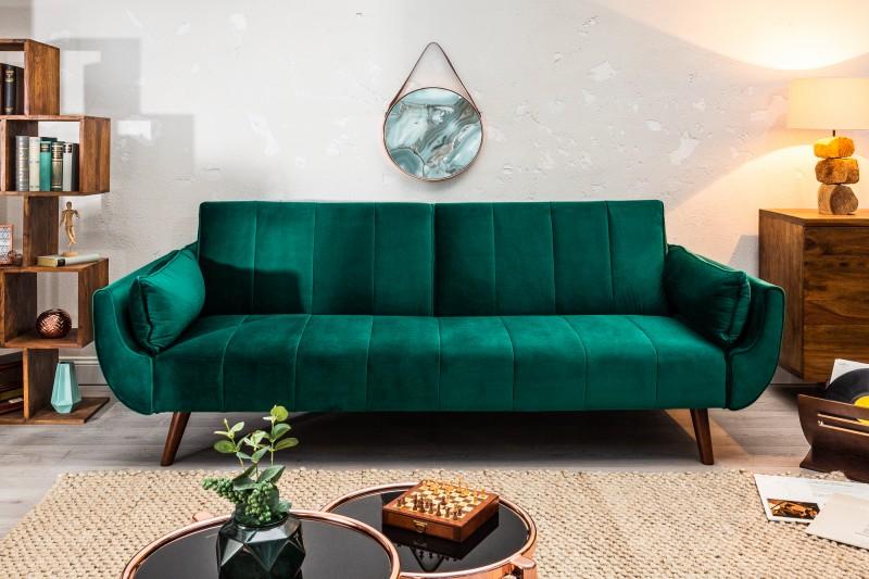 Pohovka Carina Wenge 215cm - smaragdová, samet / 40089