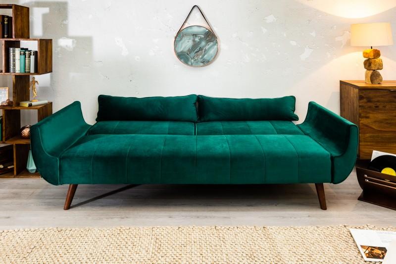 Pohovka Carina 215cm - smaragdová, samet / 40089