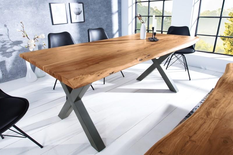 Jídelní stůl Colombo Cross 180cm x 90cm - akát, přírodní / 38352