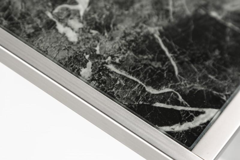 Konferenční stolek Juliet 3ks - sklo, černý mramor / 40096