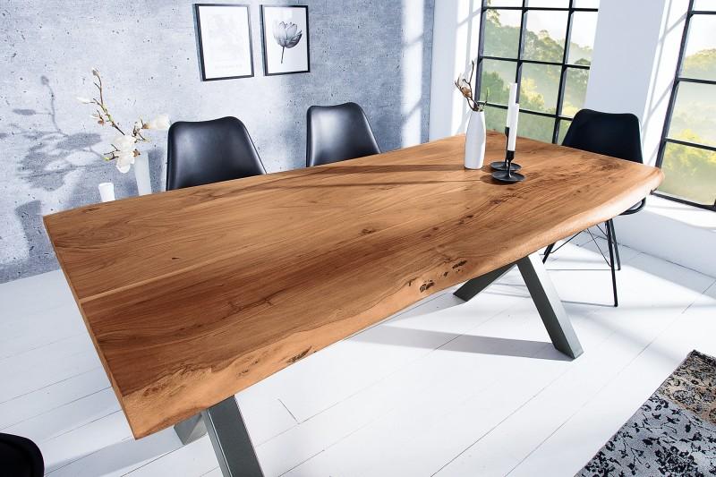 Jídelní stůl Colombo Cross 160cm x 90cm - akát, přírodní / 38351