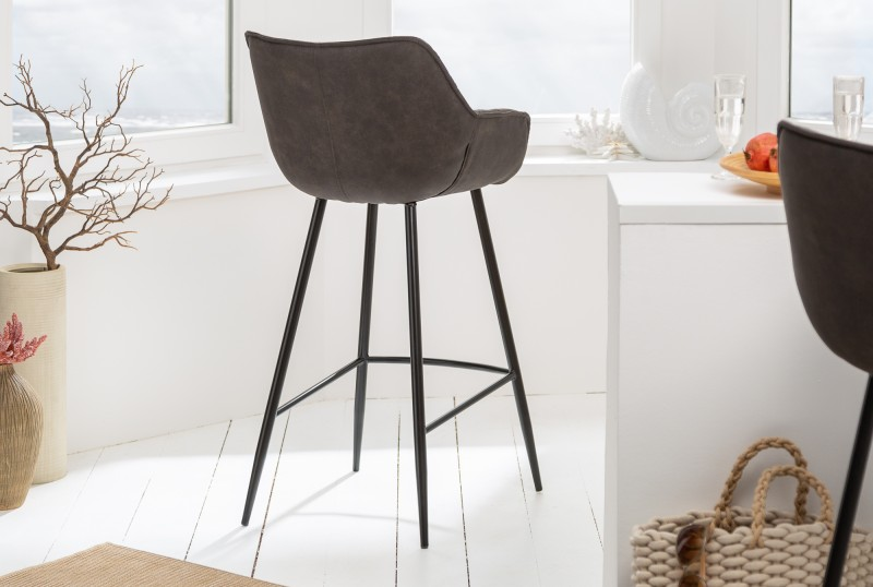 Barová židle Molly Comfort - antique šedá / 39936 - 1ks skladem