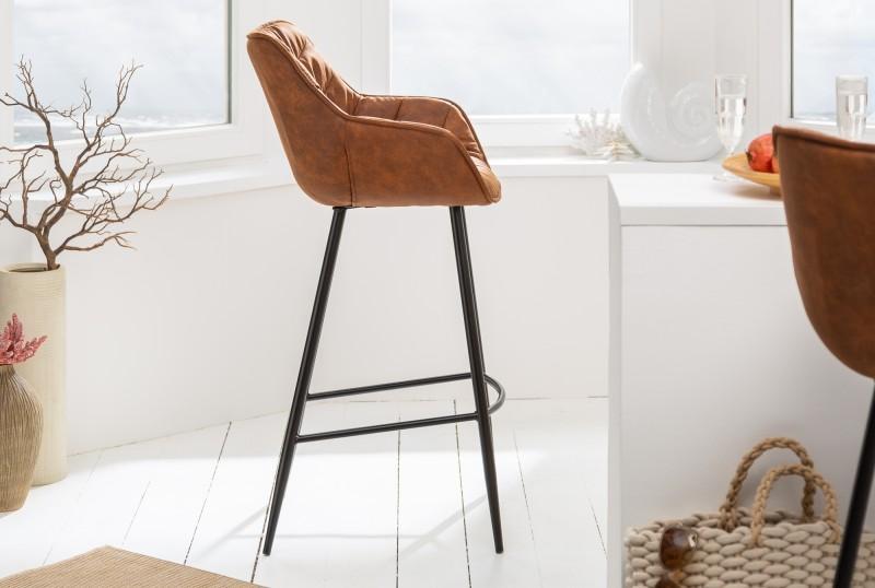 Barová židle Molly Comfort - antická hnědá / 39937