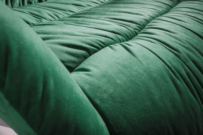 Křeslo Liam zelený samet / 40011