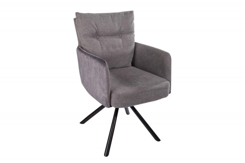 Jídelní židle Preston - šedá / 40167