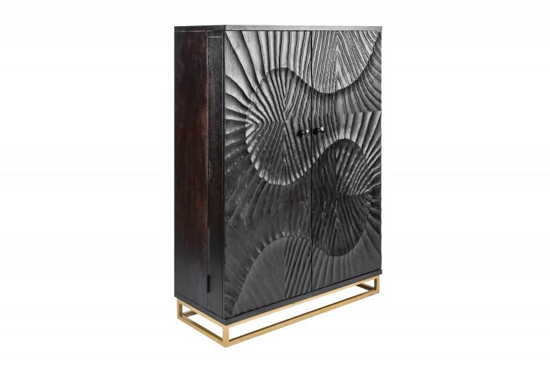 Barová skříňka Lima 95cm x 141cm - mango, tmavé / 40054