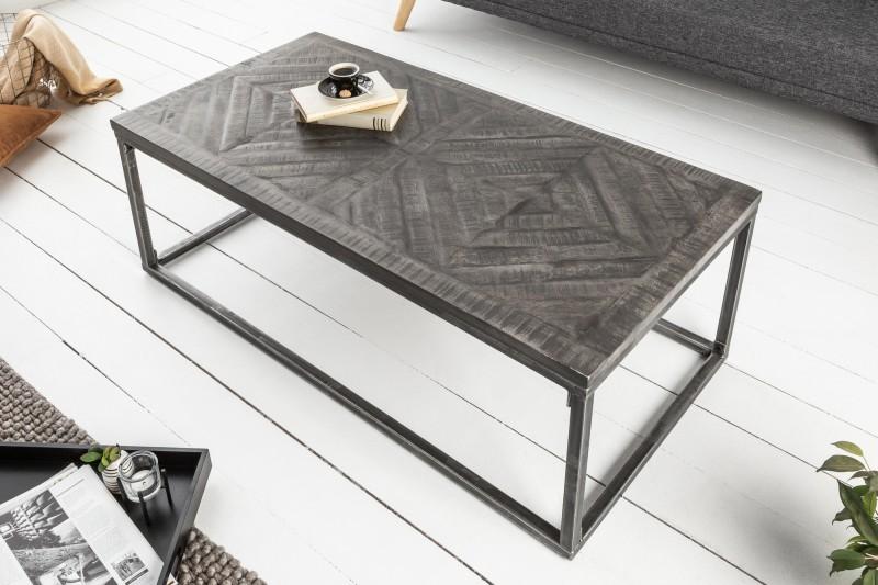 Konferenční stolek Lincoln 100cm x 50cm - mango, šedé / 40058