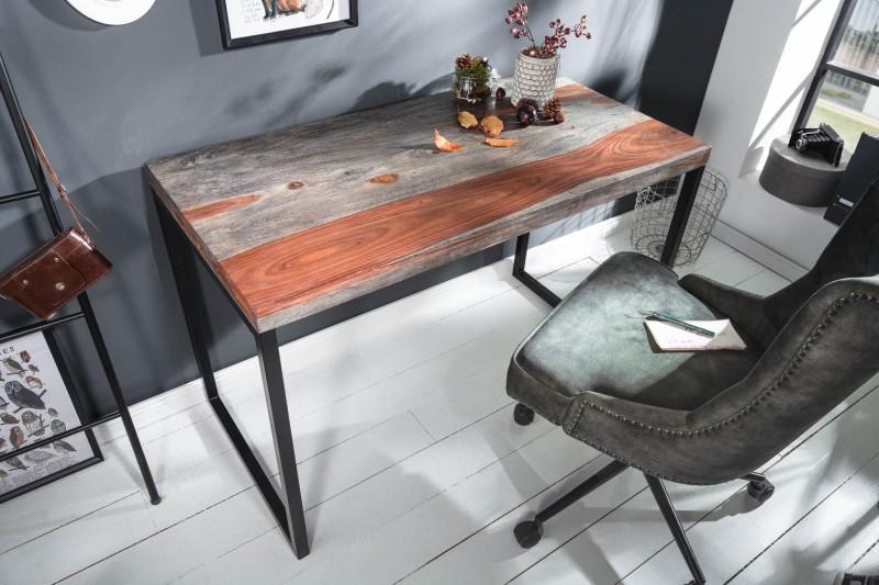 Pracovní stůl 118 cm Sheesham grey smoke / 40280