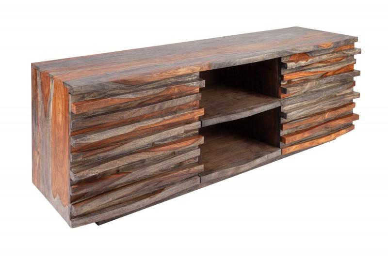 Televizní stolek Puerto Rico 150cm x 50cm - Sheesham, kouřově šedý / 40282