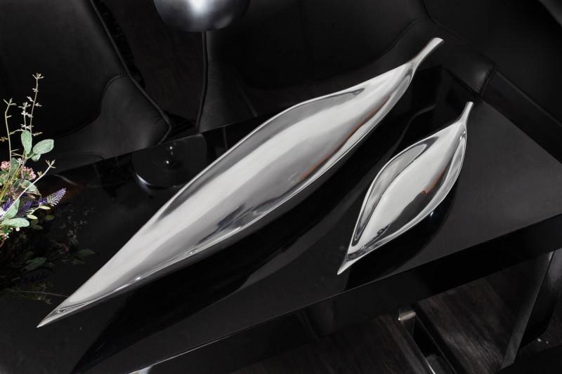 Mísa Silver Leaf 80cm stříbrná / 17369