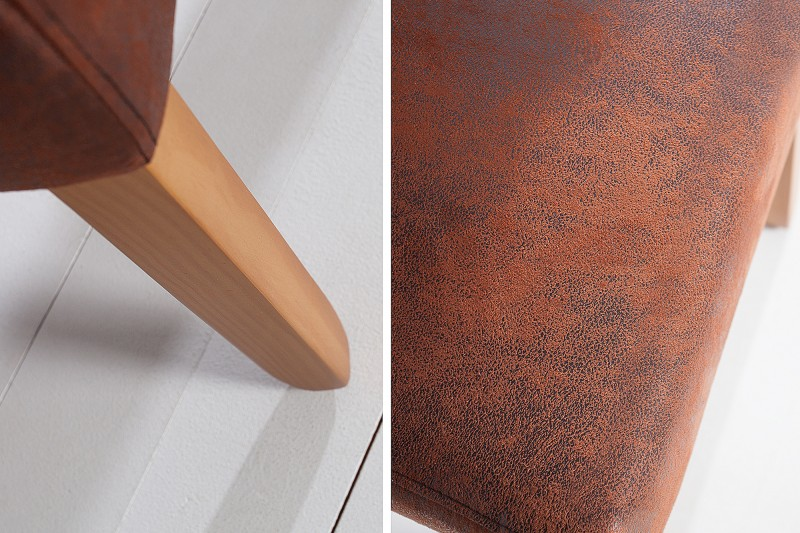 Jídelní židle Parma - vintage hnědá / 21133 - 1ks skladem