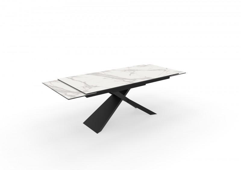 Jídelní stůl Ceramic 180-220-260cm x 90cm - mramor / 40122