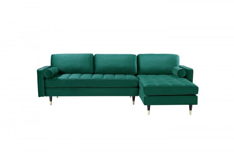 Pohovka Sheilla Corner 260cm - smaragdově zelená, samet / 40274
