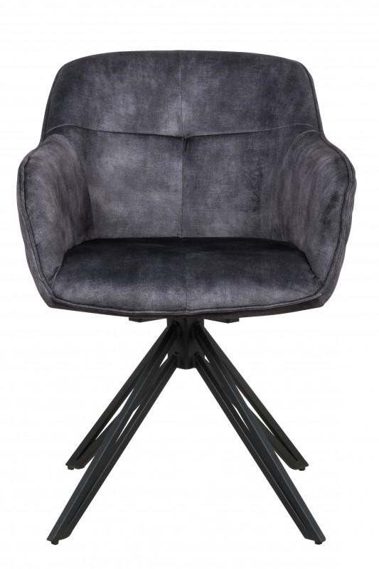Jídelní židle Torup - tmavě šedá, samet / 40263